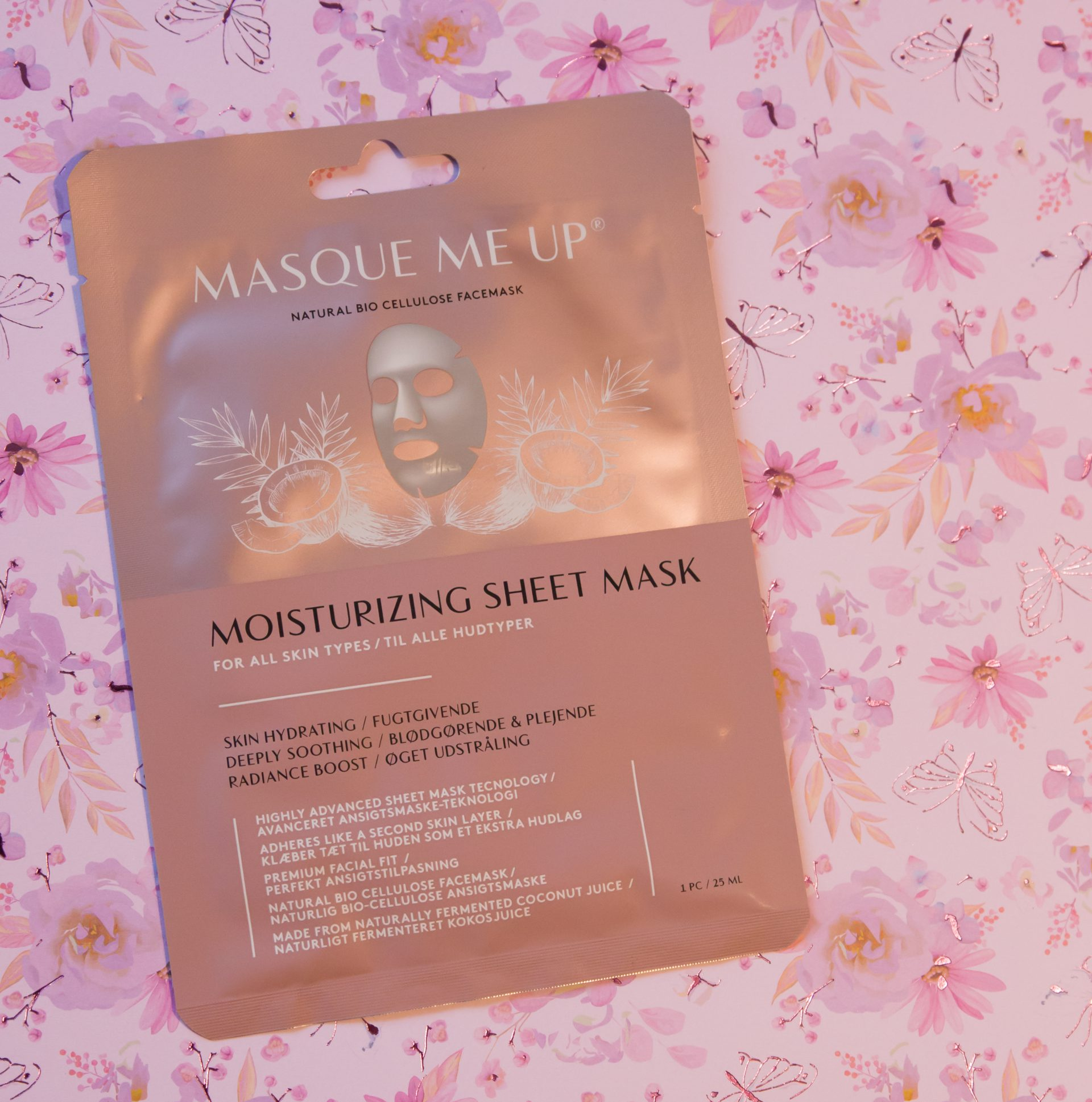 Masque me up Sheet mask unboxing Goodiebox oktober